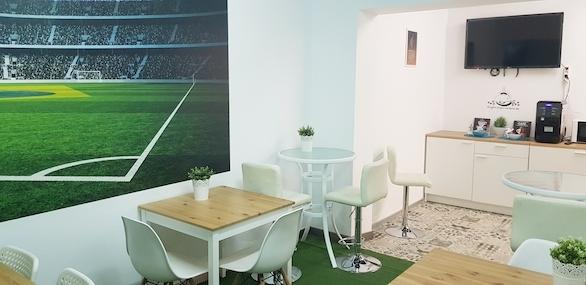 Comedor INN Offices Estadio Olimpico de Sevilla centro de negocios