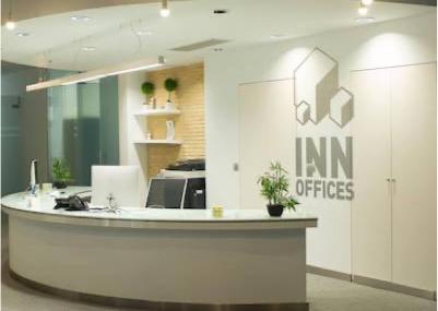 recepción-de-las-oficinas-en-alquiler-de-INN-Offices-Del-estadio-Olímpico-de-Sevilla