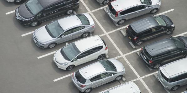 Aparcamiento de coches en Centro de Negocios