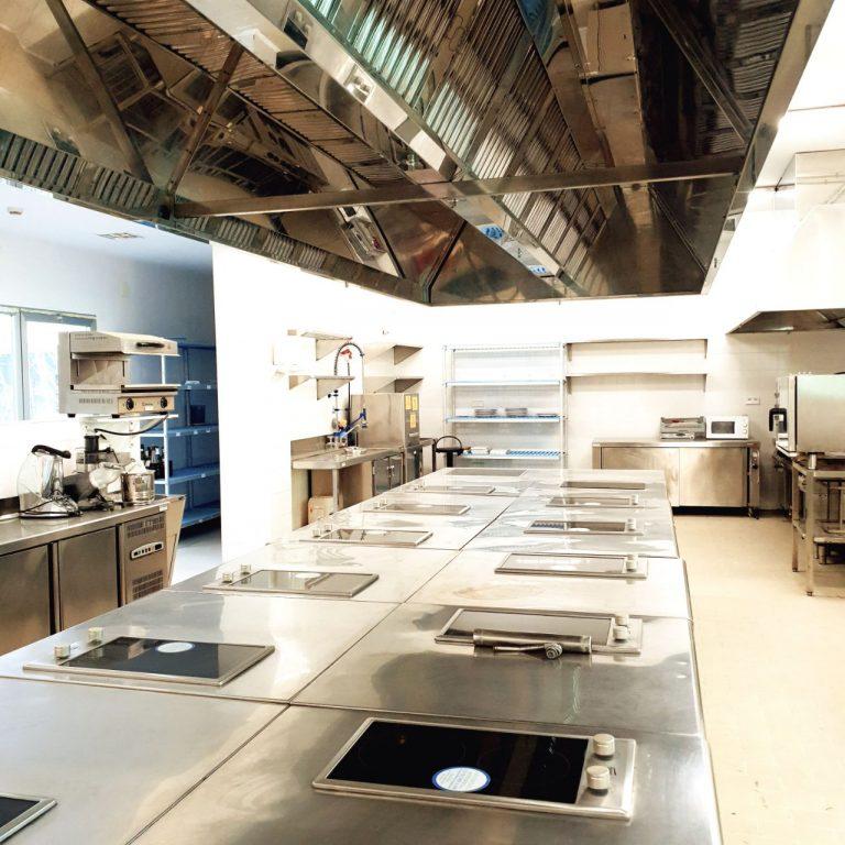 Cocina para la formación en el centro de negocios La Rinconada