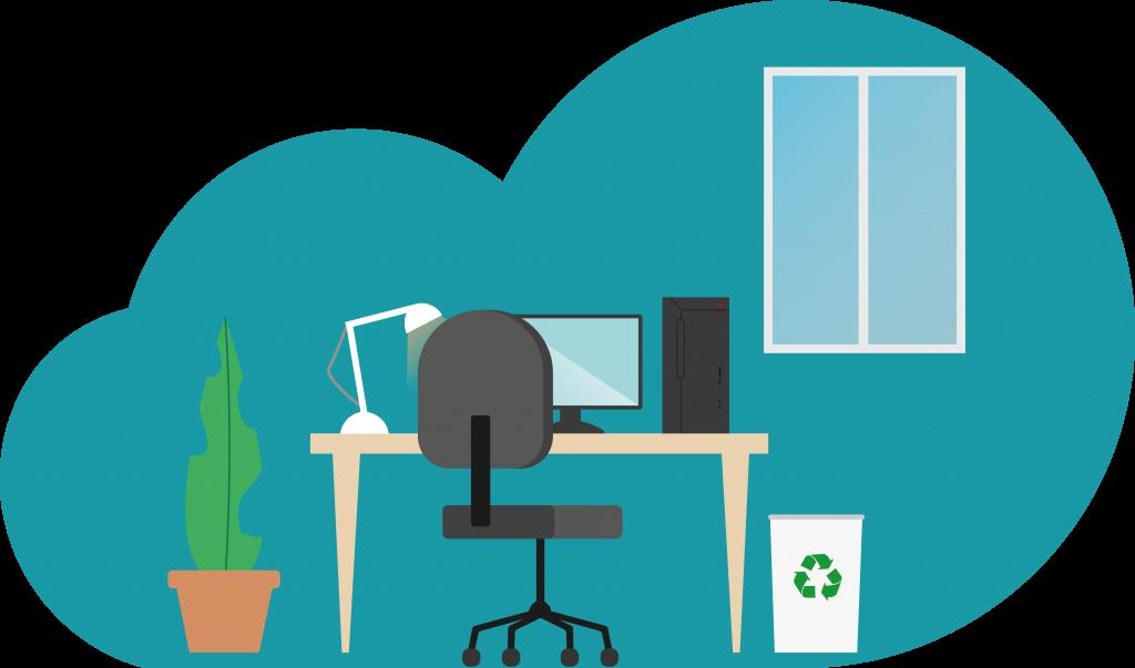 Espacio: mesas y sillas de trabajo.. Cómo mejorar tu espacio de trabajo.